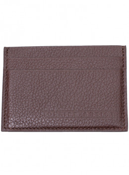 Porte-cartes Cuir Grainé Marron