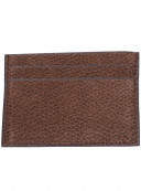 Porte-cartes Nubuck Marron